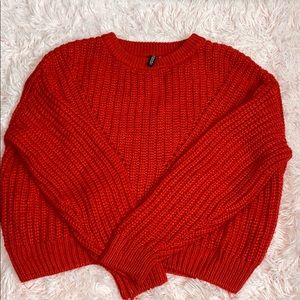 ✨Red Knit Sweater from H&M✨